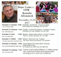 Bővebben: Csaba testvér kanadai programja