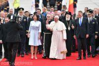 Bővebben: Ferenc pápa első napja Romániában