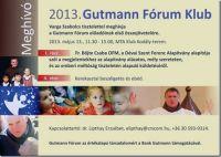 Bővebben: Gutmann Fórum Klub - Meghívó