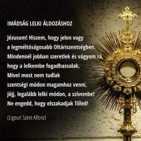 Bővebben: Imádság a lelki áldozáshoz