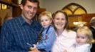 Józsi, az ö kedves felesége és két szép gyermekük
