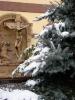 Télen a kolostor belsõudvara