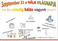 Bővebben: Szeptember 21 -  Hála Világnapja!!
