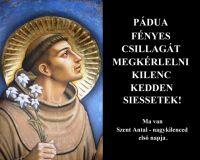 Bővebben: Isten Bajnoka: Páduai Szent Antal
